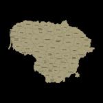 Lietuvos regionų kontūrai ir apskritys