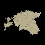 Estijos apskričių kontūrai ir apskritys