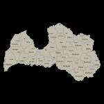 Latvijos apskričių kontūrai ir apskritys