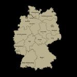 Vokietijos apskričių kontūrai ir apskritys